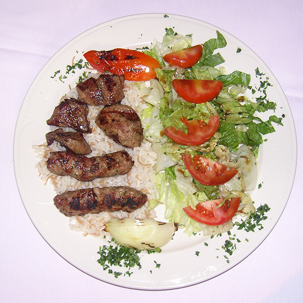 Shish Kabob & Kifta Mishwiye Combination