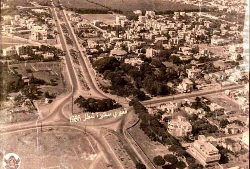 El-Ghabayri Airport roundabout 1955 (1)