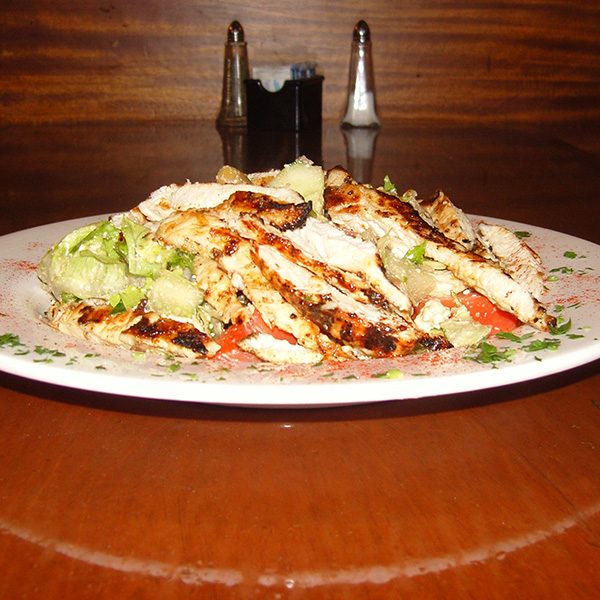 Special Greek Salad with Chicken